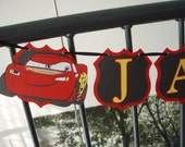 Custom listing for Bslay (Cars Name Banner & Set of 12 Cupcake Toppers)