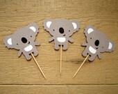 Set of 12 Koala Cupcake Toppers