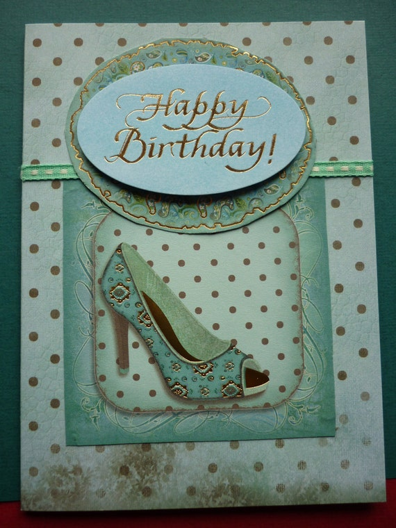 Glamorous shoe birthday card