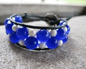Beaded leather wrap bracelet - Chan Luu Style