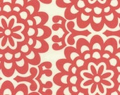 Amy Butler Fabric - Lotus Collection - Wall Flower - Cherry