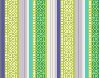 CLEARANCE - Art Gallery - Patricia Bravo Fabric - Modern Affair- Cucumber Organic Stripes