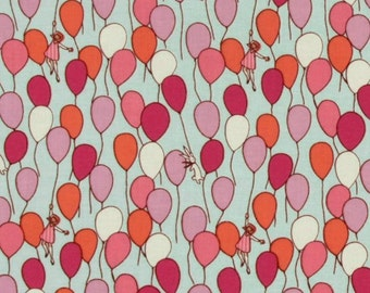 Michael Miller - Children at Play by Sarah Jane- Balloons- Aqua- Children's Novelty Fabric - Choose Your Cut 1/2 of Full Yard