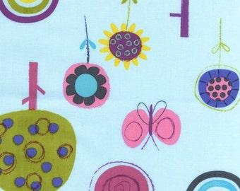 SALE - Fly Away by Amy Schimler - Sunset Butterflies and Trees for Robert Kaufman Fabrics