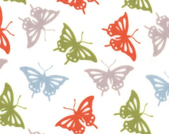SALE - Kate Spain for Moda Fabric - Serenade Collection- Butterflies - Autumn-Choose Your Cut 1/2 or Full Cut