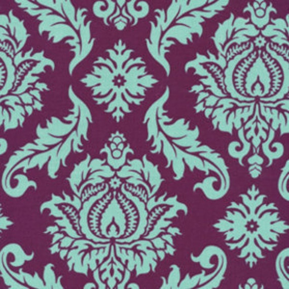 Joel Dewberry Fabric - Aviary II Collection- Damask - Purple/Plum
