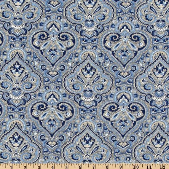 Waverly Fabric Paris Paisley Indigo-Home by BelloBerryFabricShop