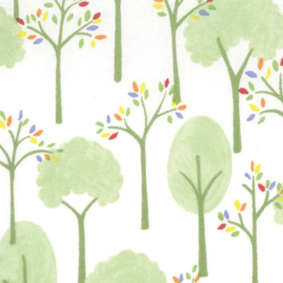Moda Fabrics- Love U Collection by Deb Strain-Love U Trees- Cloud White