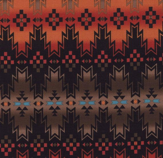 """Last 1 YARD and 10"""" - Rising Sun Collection - South Western Red by Sarah Khammash for Moda Fabrics"""