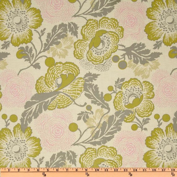Amy Butler Fabric- Midwest Modern II - Fresh Poppies - Linen