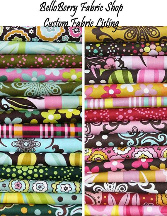 Custom Fabric Listing for Jenny - Assorted Echino Fabrics