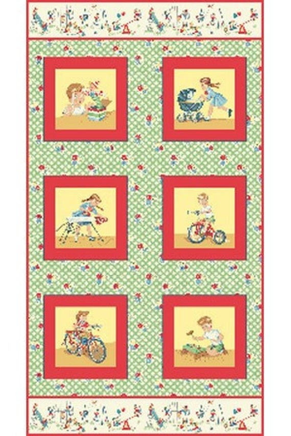 Sale benartex fabric let 39 s play red children 39 s for Childrens fabric sale