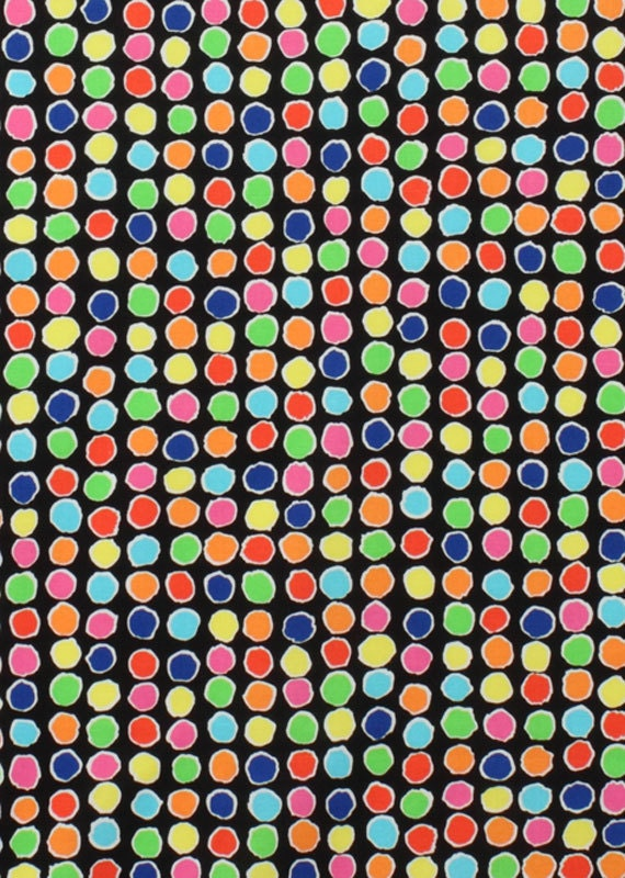 Alexander Henry Fabric - Metro Collection  - Bon Point Multi Dots - Brite - Novelty Dot Fabric