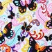 Alexander Henry Fabric - Papillon Collection -Papillon - Black/Brite - Butterfly Fabric