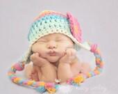 baby girl hat, newborn girls hat, crochet girls hat