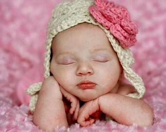 baby girl hat, baby hat, Crochet baby hat, crochet girls hat, baby girl hat
