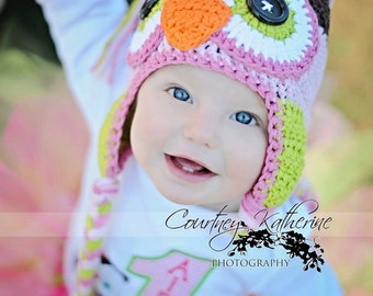owl hat, crochet owl hat. baby hat, crochet kids hat, crochet baby hat, custom colors