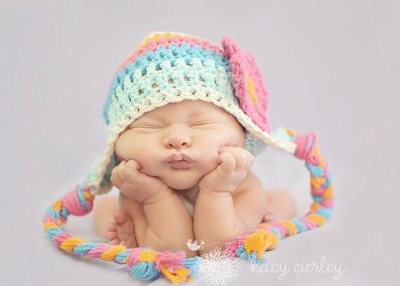 baby girls hat, Crochet baby hat, baby hat, crochet kids hat, hat with flower