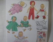 """Simplicity 4707-- Baby Doll Clothes--Sizes S-L --- 12-22"""""""