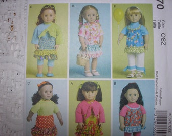McCalls 6370 --  18 Inch Doll Clothes Pattern