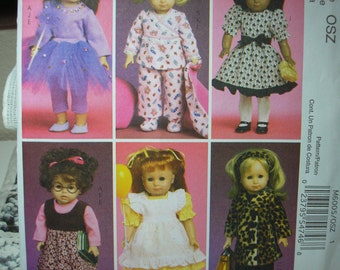 McCalls 6005    18 Inch Doll Clothes sewing pattern