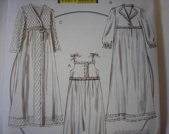 Butterick 5544 Historical Retro House coat Pattern Size XS-Med Nightgown Robe