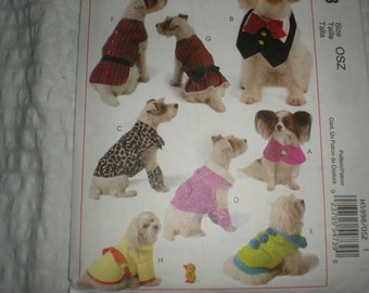 SALE--SALE--   McCalls 5998-- Dog Clothes for little Dogs