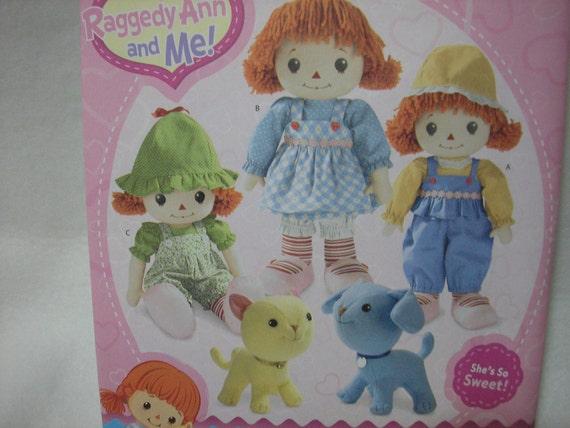 Simplicity 2387 Raggedy Ann Doll Clothes