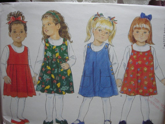 Butterick 4164 Fast and Easy Girls Dresses and Tops
