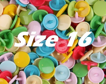 SIZE 16 - 50 KAM Snaps Plastic/Resin (You Choose 1 Color) for Ribbon Projects/Bibs/Cloth/Snap/KAM Snap