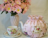 Teapot cozy 6 to 8 cup fine china cups print
