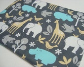 Laptop Sleeve / Cover MacBook Pro 13 Inch Elephant Giraffe Hippo Print Additional Sizes Available Makes A Great Gift