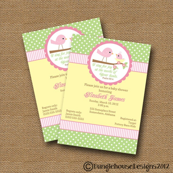 shower invitation diy printable baby girl christian scripture bible