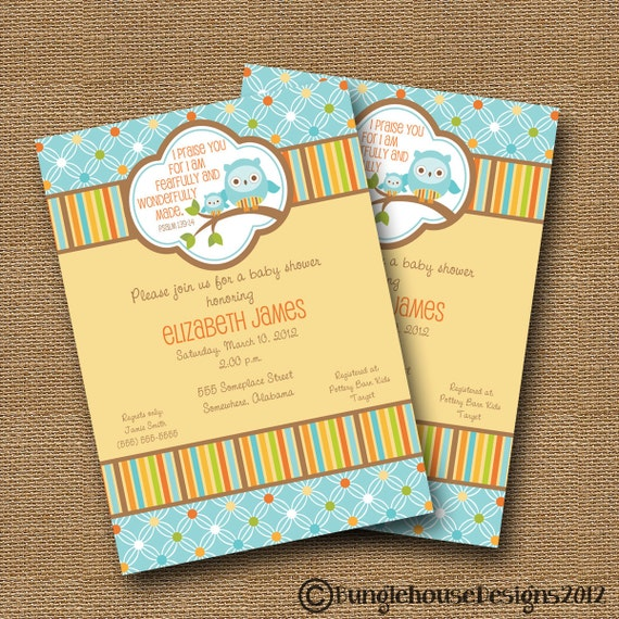 owl baby shower invitation diy printable baby boy christian