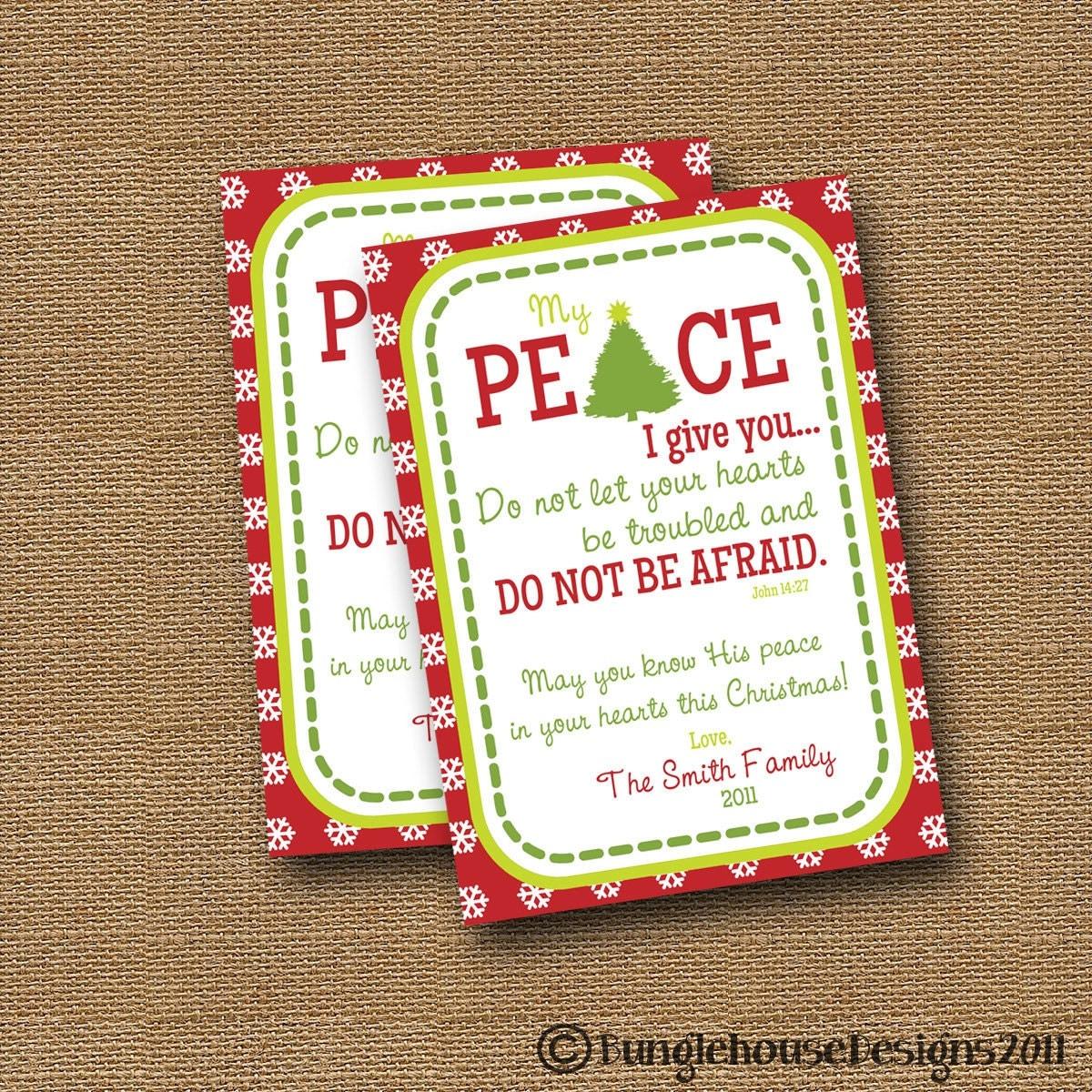 Christmas Card DIY PRINTABLE Peace Christian
