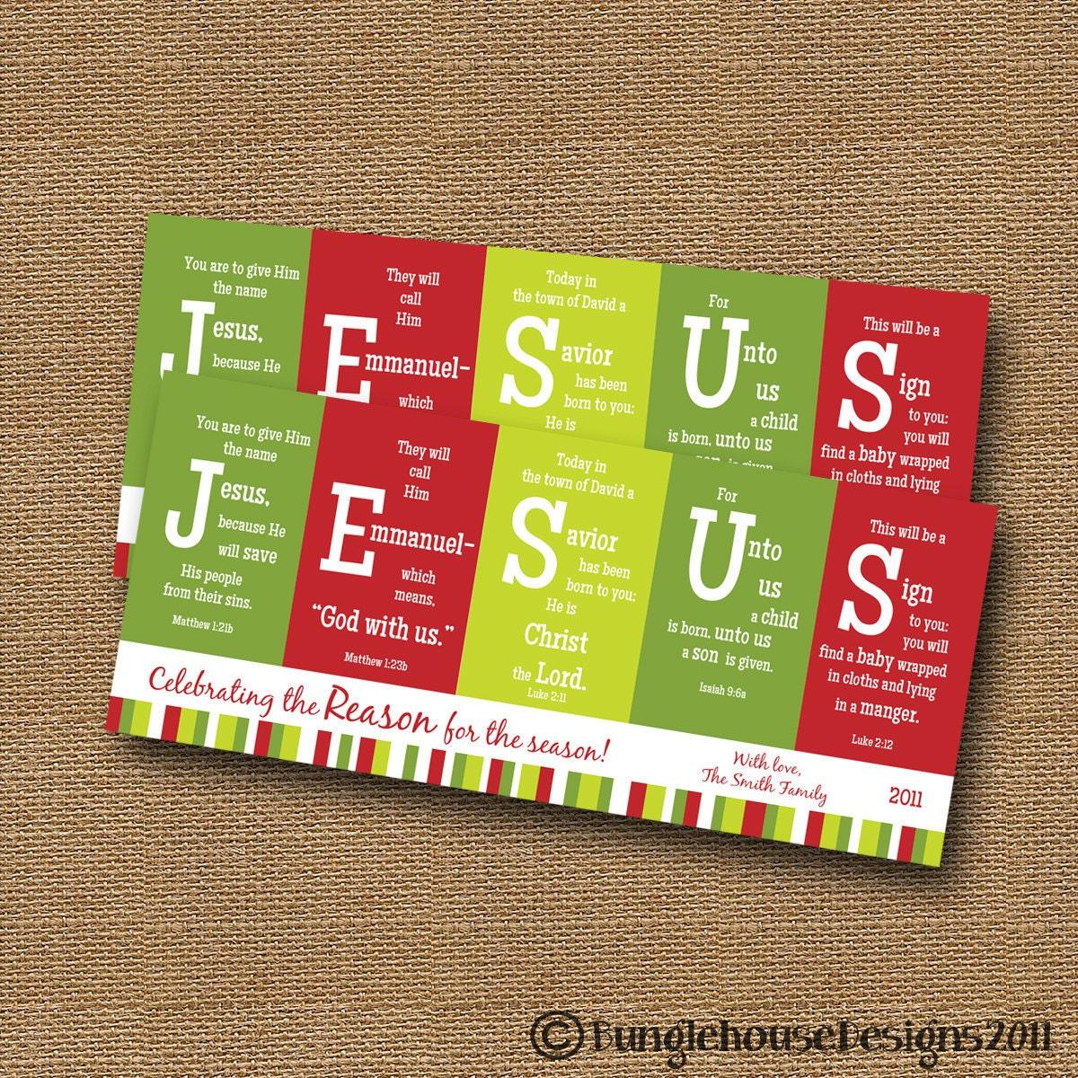Printable Christmas Card DIY PRINTABLE JESUS