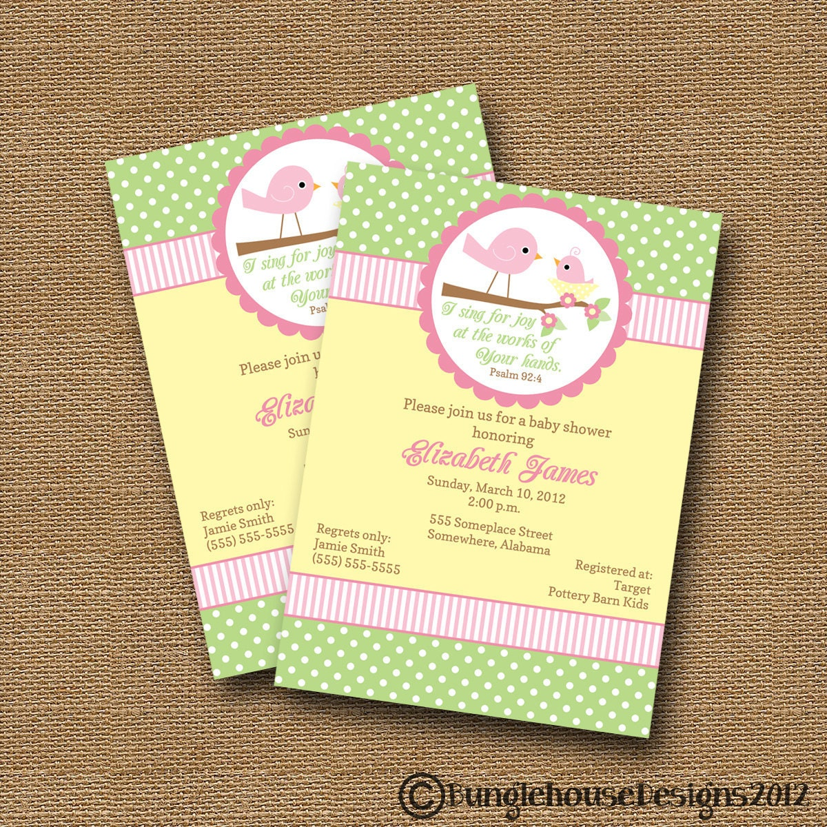 Spiritual Baby Shower Quotes: Bird Baby Shower Invitation DIY PRINTABLE Baby Girl Christian