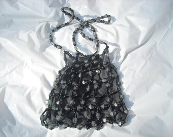 "80""s Beaded Sheer Evening Bag"