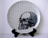 Halloween Skull Plate - Decorative Plate - Dining  - Dinnerware - Melamine