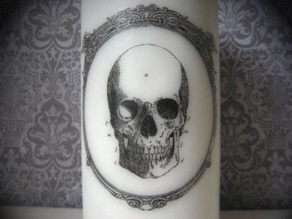 Halloween Anatomy Candle - Dearly Departed - Pillar