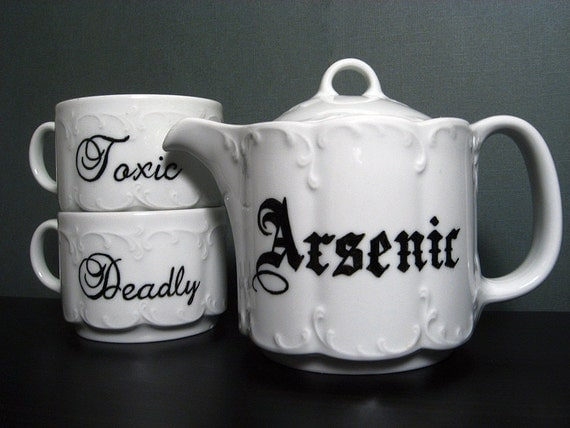 Teacup - Victorian Inspired - Hand Painted Tea Set - Treacherous Tea Party