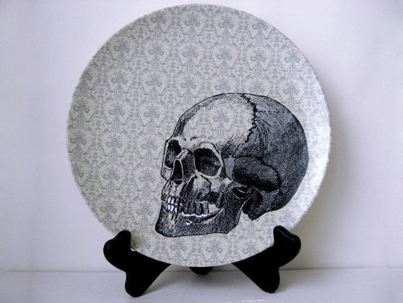 Halloween Skull Plate - Decorative Plate - Dining  - Dinnerware - Melamine