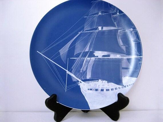 Ghost Ship - Melamine Plate - Dinnerware - Ocean