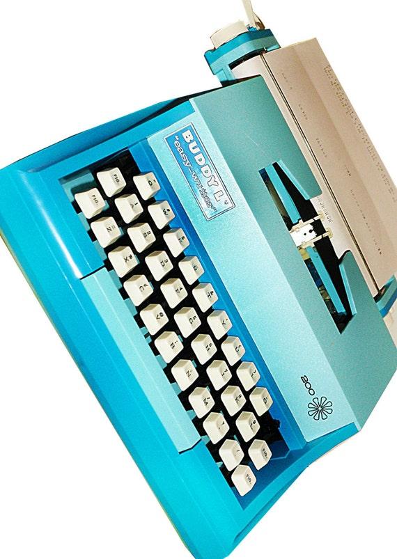 1978 Vintage Buddy L Easy-Writer 200 Working Childs Toy Typewriter in Blue