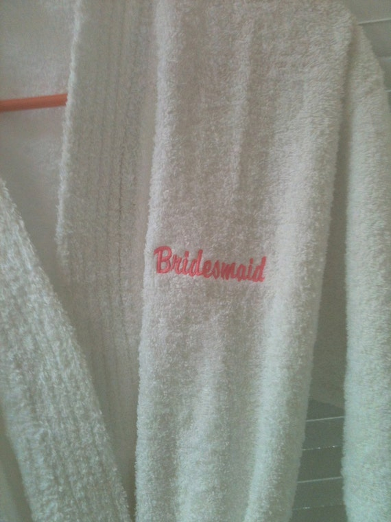 Plush Spa Terry Robe for the Personalized for the Bride, Groom or Bridesmaids