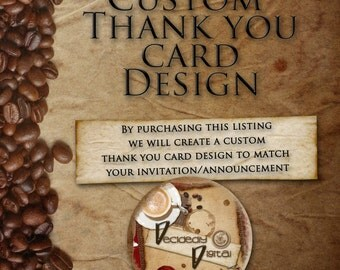 Custom Digital Thank you Card Design
