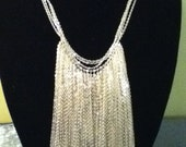 Metal Link Fringe Necklace