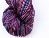 """Kettle Dyed Sock Yarn, Superwash Merino, Cashmere and Nylon Fingering Weight, in """"Table Grapes"""""""