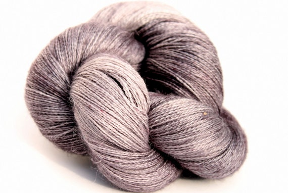 """Kettle Dyed Lace Yarn, Baby Alpaca, Silk, and Cashmere Lace Weight, in """"Rainshowers"""""""