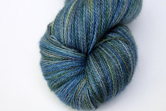"""Kettle Dyed Lace Yarn, Baby Alpaca, Silk, and Cashmere Lace Weight, in """"The Gloaming"""""""